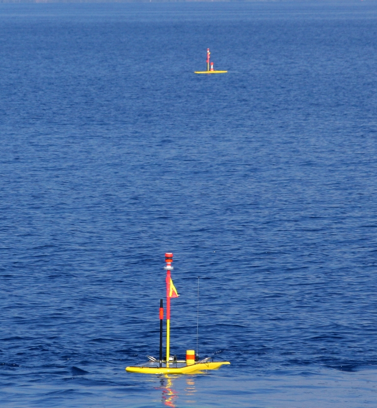 Wave Gliders Transmitting LIVE Song